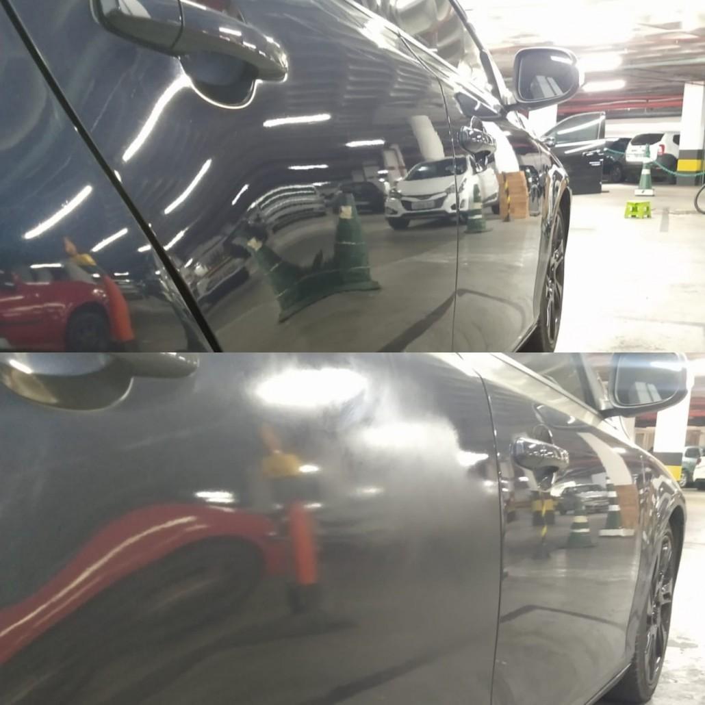 Volvo - polimento antes e depois